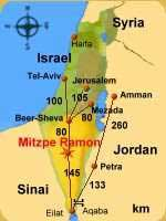 Jeep tours map guide Ramon Crater and Zin Valley , Negev Desert Israel