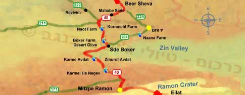 Negev Farms on RT 40 - from Beer Sheva to Mitzpe Ramon